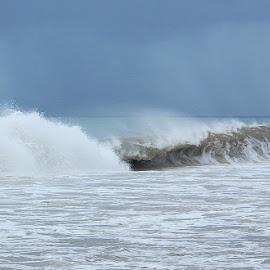 Preceding Hurricane William by Lena Arkell - Landscapes Weather ( waves, sky, rain, caribbean, ocean, sea,  )