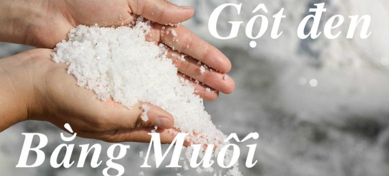 giải xui bằng muối