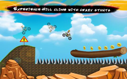 Hill Bike Stunts: Crazy Racing