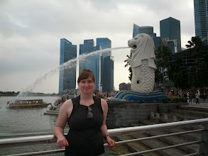 Photo: In Singapore now, taking the obligatory tourist photos with the merlion.  They don't let you leave the country without photographic proof of visiting this.