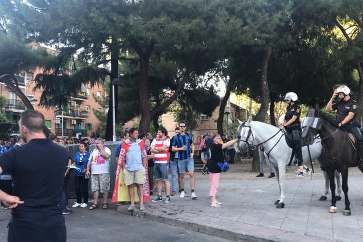 ? La police espagnole a fait attendre les supporters brugeois