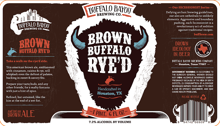 Logo of Buffalo Bayou Brown Buffalo Rye'd