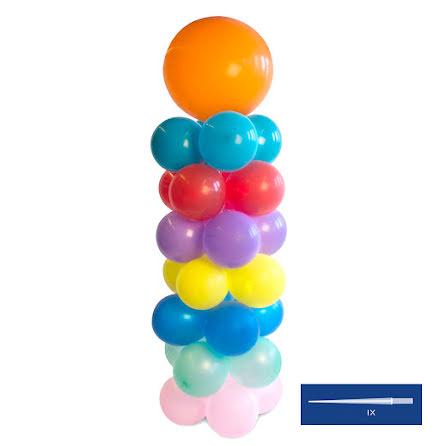 Ballongpelare, 140 cm med spets