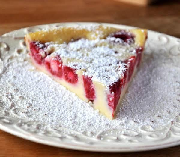 Impossible Raspberry Custard Pie