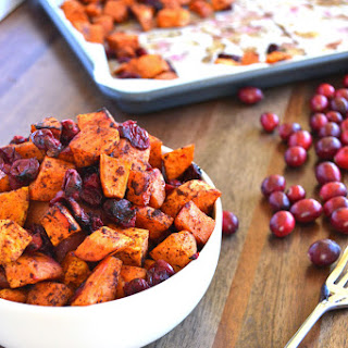 Cinnamon Roasted Sweet Potatoes & Cranberries