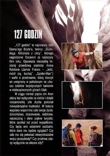 Tył ulotki filmu '127 Godzin'