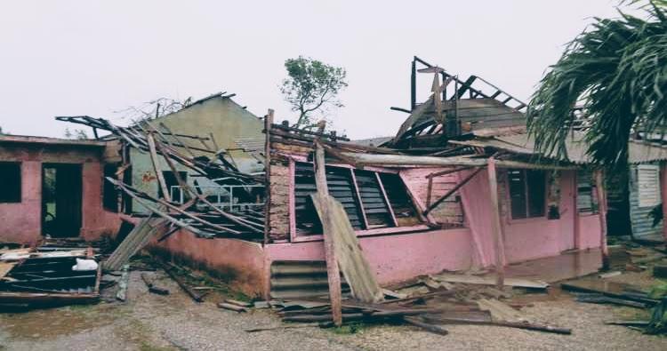 Zerstörtes Haus.
