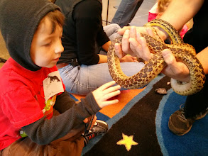 Photo: Clark and Gopher Snake (at The ENC)