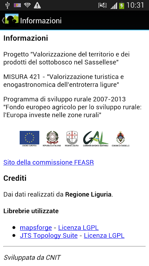 Per funghi a Sassello- screenshot