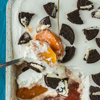 No-crust Creamy Oreo Peach Delight