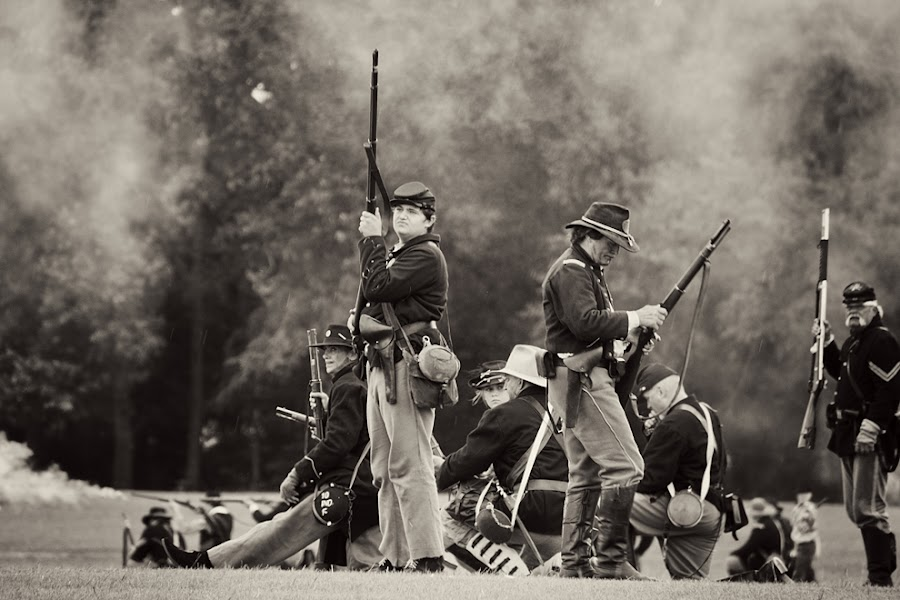 Civil War Reenactment 1 by Veronica Beaudry - News & Events US Events