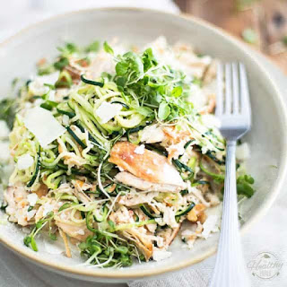 Parmesan and Chicken Zoodles.