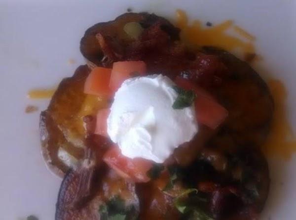Fried Potato Nachos Recipe