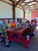 Photo: Day 4 - Our group at the morning rest stop. Thanks to Judy for the photo.