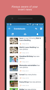Eventshoots - Photo Sharing - náhled