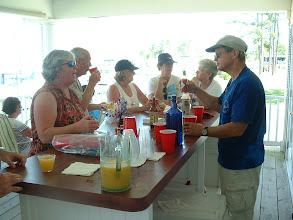 Photo: Linda Blotter placing a bar order.