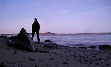 Photo: My first night on Vancouver Island saw myself and Karsten Klawitter exploring Island View Beach at sunset