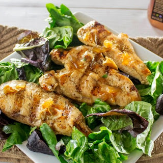 Grilled Green Tea Chicken Breast And Honey Ginger Salad.