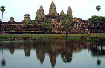 """Photo: """" Angkor Wat """" - Siem Reap,Cambodia """"  Angkor Wat is the largest Hindu temple complex in the world. The temple was built by King Suryavarman II in the early 12th century. First Hindu, dedicated to the god Vishnu, then Buddhist. The temple is at the top of the high classical style of Khmer architecture. It has become a symbol of Cambodia, appearing on its national flag, and it is the country's prime attraction for visitors. #angkorwat #cambodia #siemreap #templeshooting   Documentary - >http://indiaandsoutheastasiatravel.blogspot.co.uk"""