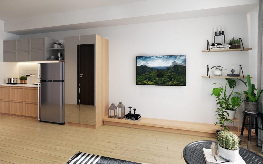 Tree Park City Apartment bedroom