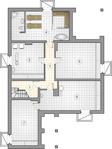 Ostoja II - Rzut piwnicy