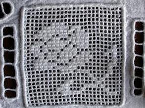 Photo: la rosellina d'angolo a punto rammendo