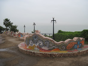 Photo: Parque del Amor, Lima,  inspired by Gaudi's Parc Guell in Barcelona