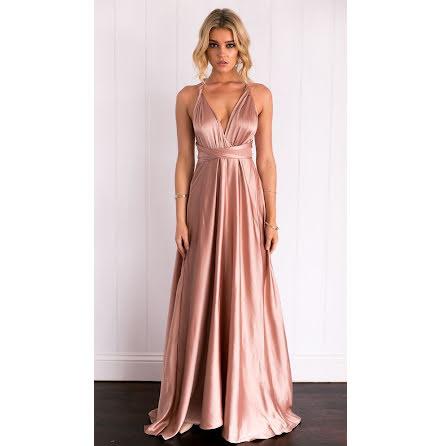 Satin Kylie Muti-way Wrap Dress