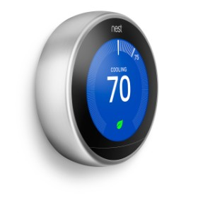 nest thermostat display angle