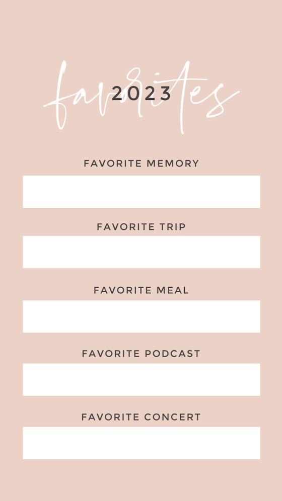 New Year's Favorites - New Year's Template