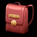 赤いサッチェルバッグ