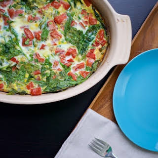 Spinach and Tomato Egg Bake.