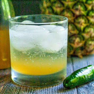 Pineapple Jalapeno Shrub Cocktail.
