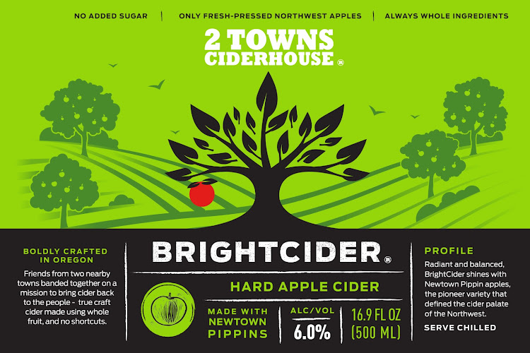 Logo of 2 Towns Ciderhouse - BrightCider