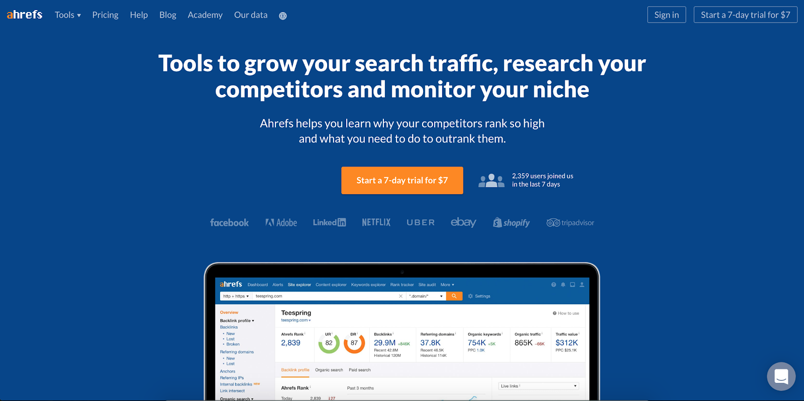 Top Marketing Tool Example #13 - Ahrefs | 16 Powerful Marketing Tools You Haven't Considered (But Probably Should)