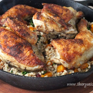 Autumn Skillet Chicken with Butternut Squash and Barley