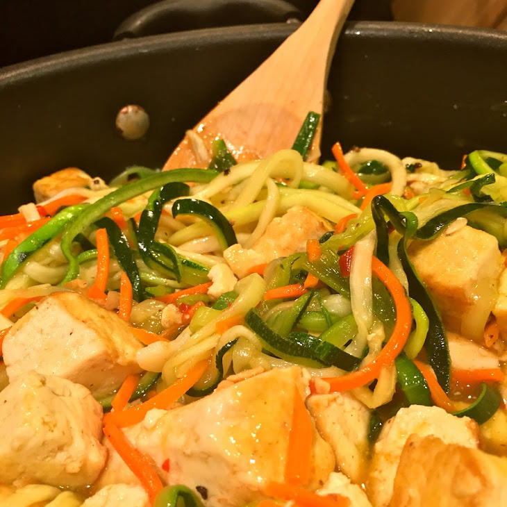 Tofu Zoodle Lo-Mein Recipe