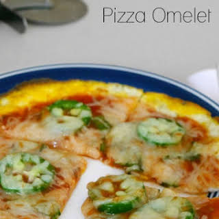 Low Carb Pizza Omelet.