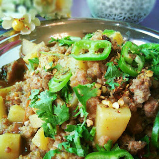 Classic Authentic Minced Meat with Potato curry(Aloo Qeema)