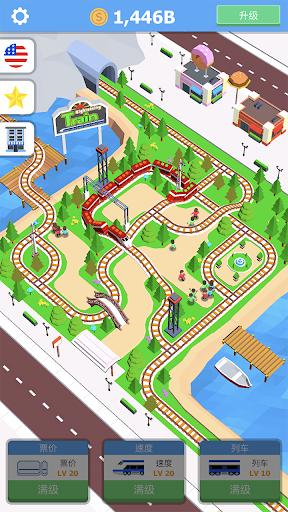 Idle Trains Sightseeing mod apk 1.0.2 screenshots 1