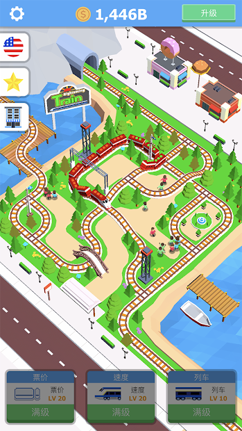 Idle Sightseeing Train - Game of Train Transport Android App Screenshot
