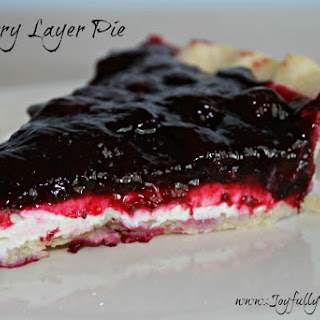 Blueberry Layer Pie with Cream Cheese.