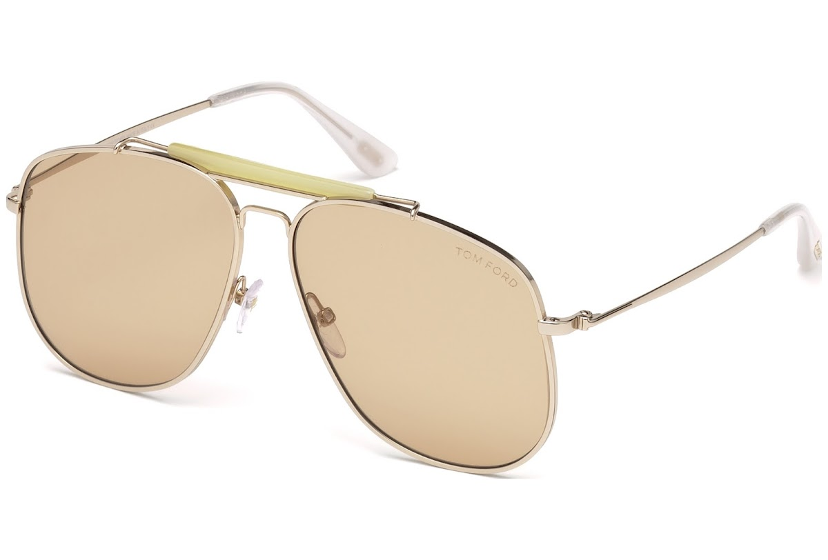 b7b4a5810d Sunglasses Tom Ford Connor-02 FT0557 C58 28Y (shiny rose gold   violet)