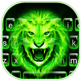 Green Neon Lion Keyboard Theme Android APK Download Free By Colorful Keyboard Theme Designer