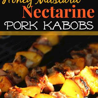 Honey-Mustard Nectarine Pork Kabobs.