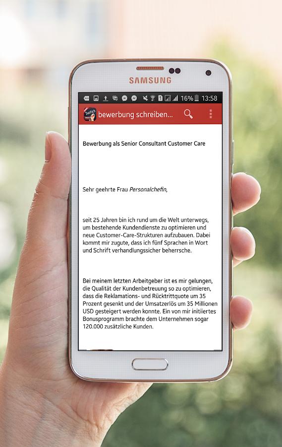 Bewerbung Schreiben Vorlage - Android Apps On Google Play