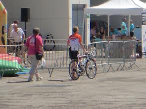 Photo: Claudia Kranen, WC on her way to the startingline