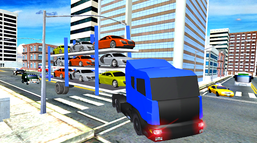 Elevated Car Transporter Game: Cargo truck Driver 1.0 screenshots 13
