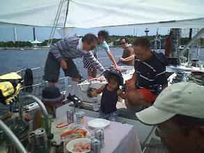 Photo: 八景島でテントを張ってランチ