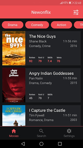 Newonflix - Streaming movie catalogue 1.6.1 screenshots 1